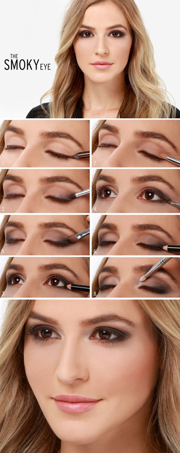 Stunning Shimmery Smokey Eye Makeup DIY TutorialsStunning Shimmery Smokey Eye Makeup DIY Tutorials
