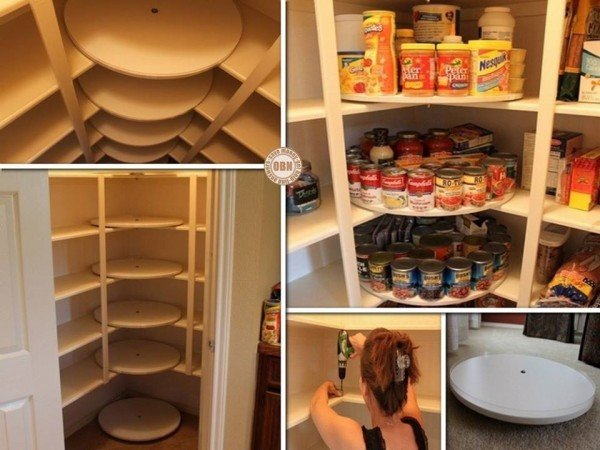 The Great Pantry Makeover - DIY Lazy Susan Style Pantry tutorial