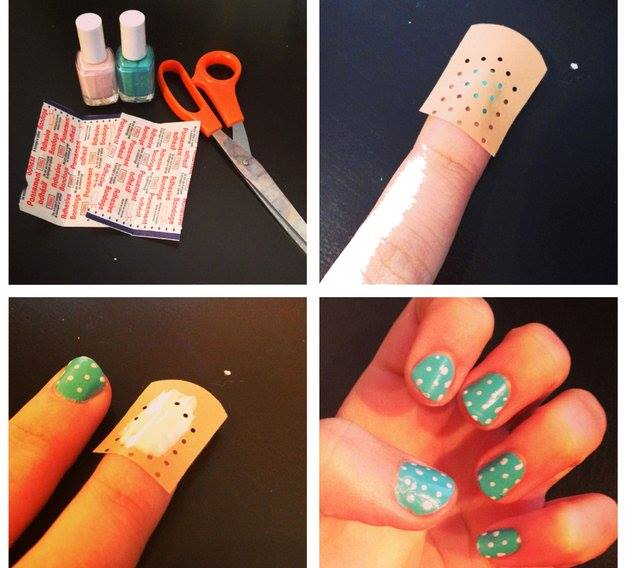 Use a band aid to create dots