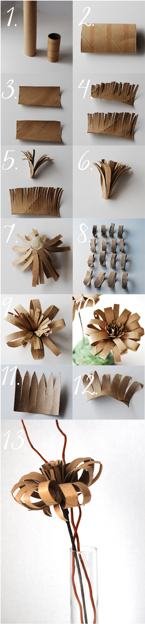 Vintage paper flower from TP roll tutorial