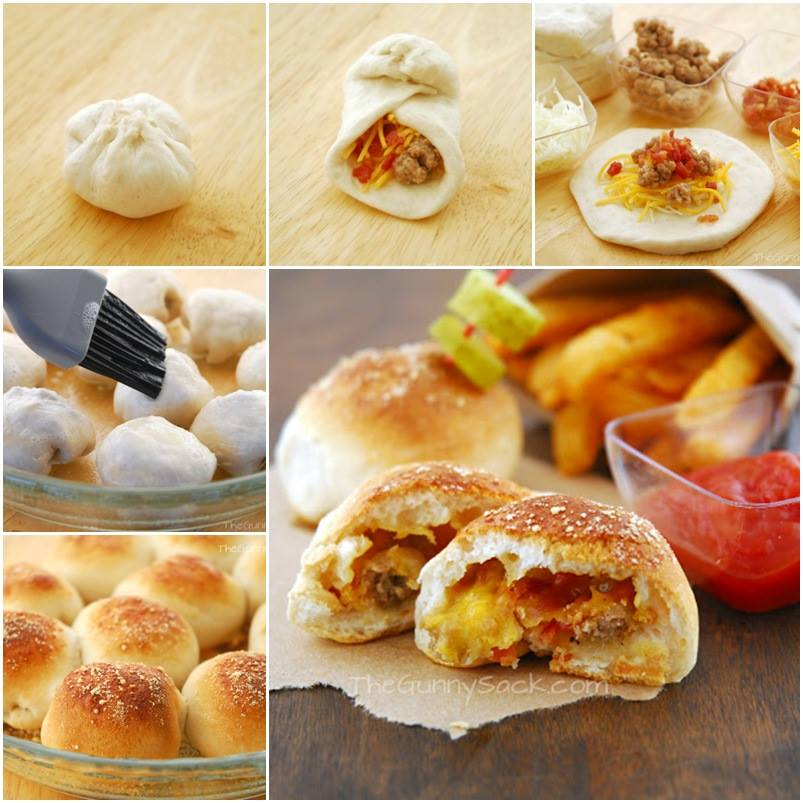 How to DIY Tempting Bacon Cheeseburger Pizza Balls | www.FabArtDIY.com