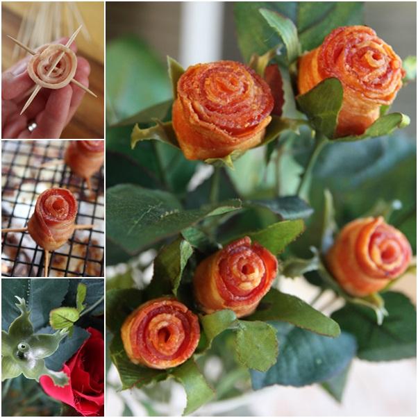 bacon rose bouquet f