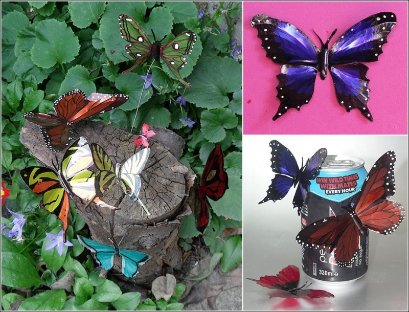 DIY Beautiful Butterflies from Drink Can-DIY Soda Can Butterfly
