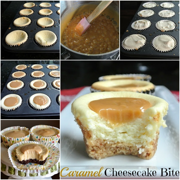 caramel cheese cake bite