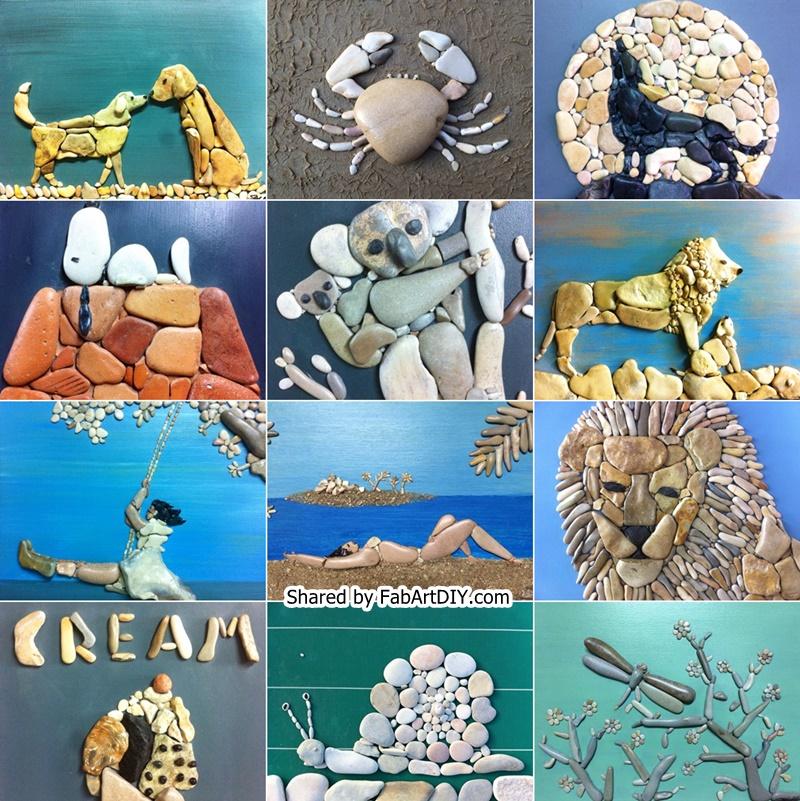 creative stone art