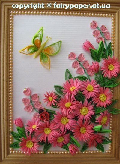 How To Diy Quilling Flower Framed Wall Art Diy Tutorials