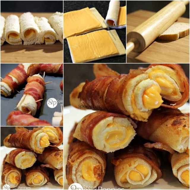 How to DIY Crispy Bacon Grilled Cheese Roll Ups