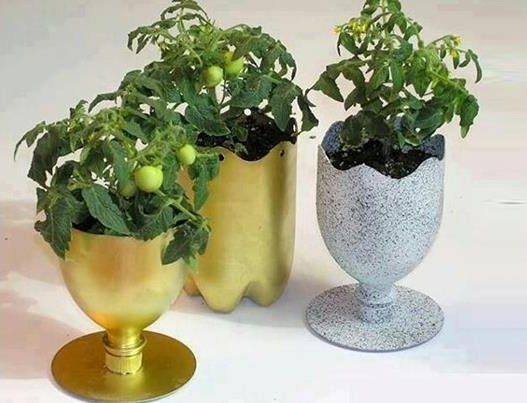cup planter from plastic bottles05