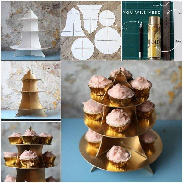 DIY Cardboard Cupcake Stand Tutorial