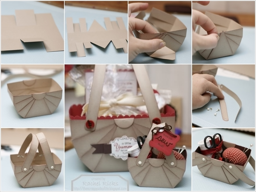 How to DIY Cute Paper Basket for Storage or Gifts