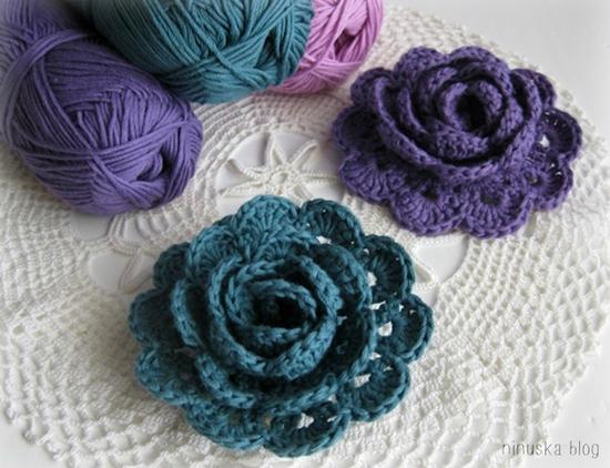Crochet Pretty 3d Lace Rose Free Pattern