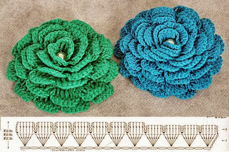 diy crochet lace rose7
