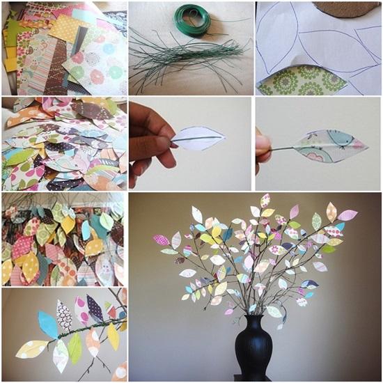 How To Diy Scrap Paper Tree Decorative Vase