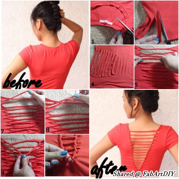 Refashion An Old T Shirt With Weaving