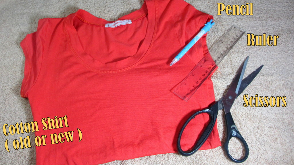 How to Refashion an Old T-Shirt with Weaving Back2