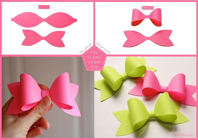 How to diy easy and perfect paper bow fab art diy easy paper bow with template maxwellsz