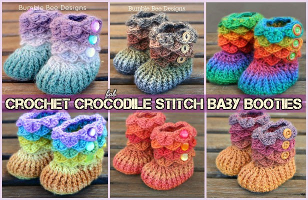 DIY Crocodile Crochet Boots Free Patterns (Video)