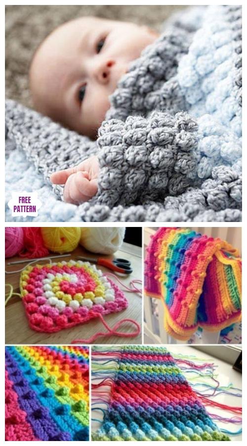 DIY Crochet Bobble Stitch Blanket Free Crochet Patterns – Video