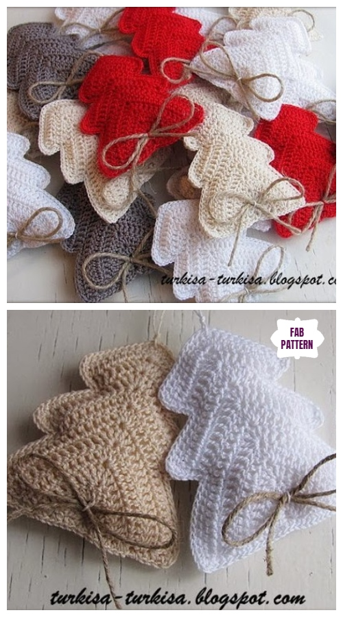 DIY Crochet Christmas Tree Ornament Free Crochet Pattern