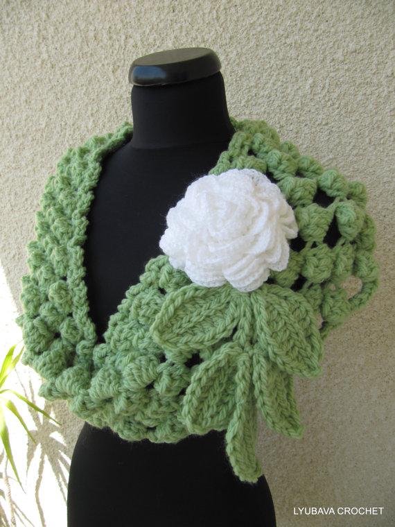 DIY Crochet Pom Pom Puff Popcorn Stitch Scarf - Video
