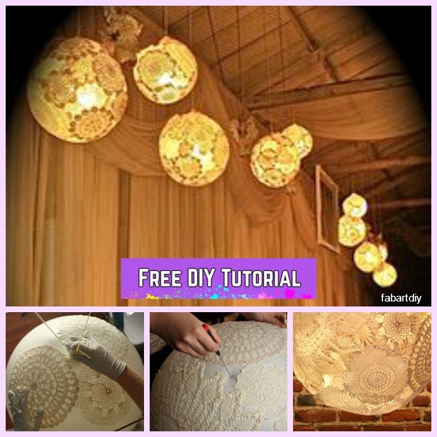 DIY Lace Doily Lamp Tutorials