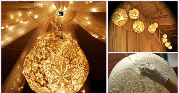 Diy Lacey Doily Lamp Archives