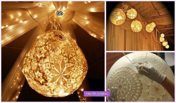 DIY Lace Doily Lamp Tutorials