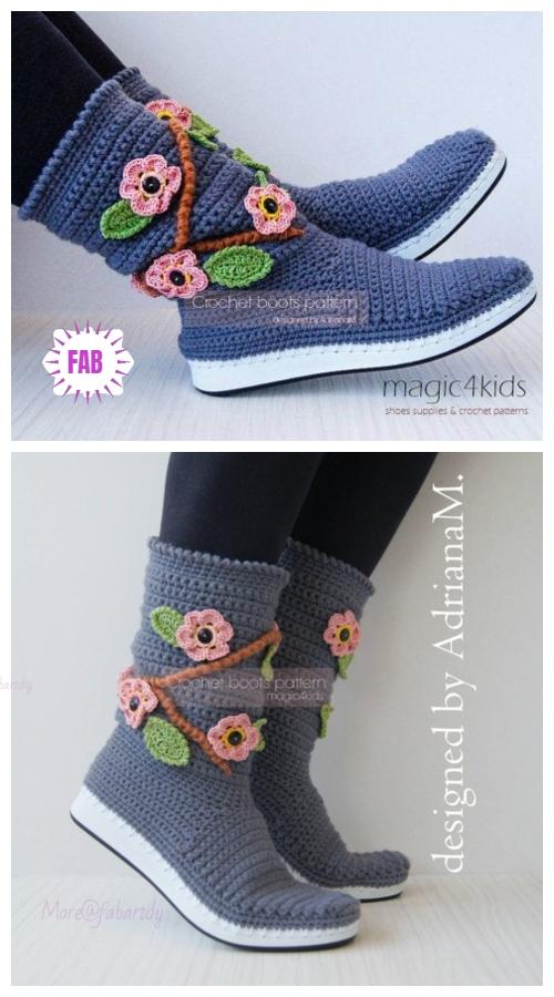 Diy Lovely Crochet Boot Slippers Crochet Pattern Video