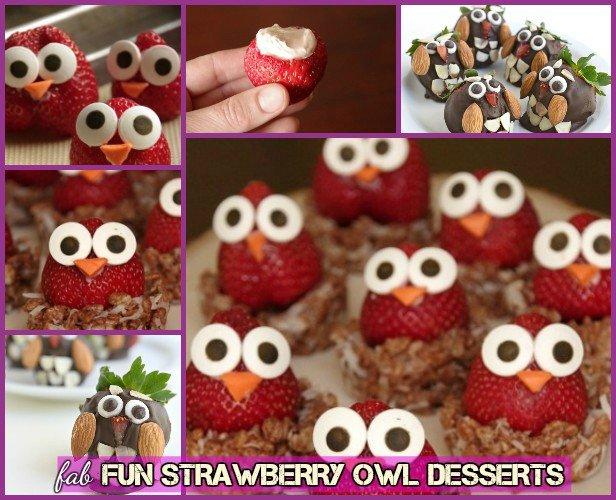 DIY Strawberry Owl / Owl Strawberry Dessert Recipe