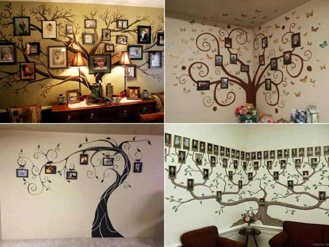Fab ideas on family tree wall art decor for Family tree picture wall ideas