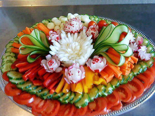 Diy ideas on food art presentation for Decoration salade