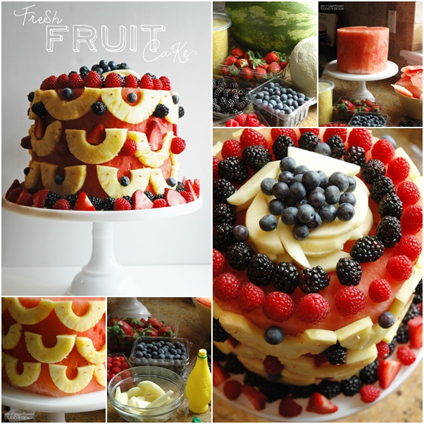 How to DIY No Bake Fresh Fruit Cake