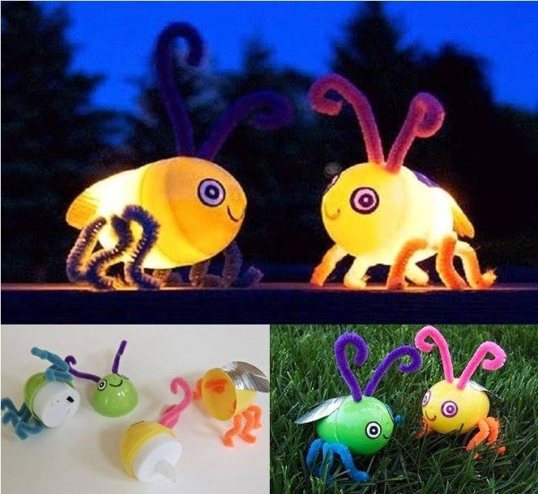 DIY Homemade Easter Egg Glow Fireflies
