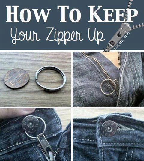 how to keep your zipper up