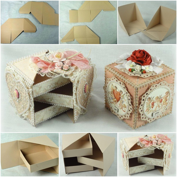 How to diy secret jewelry box from cardboard fab art diy for How to make a ring box out of wood