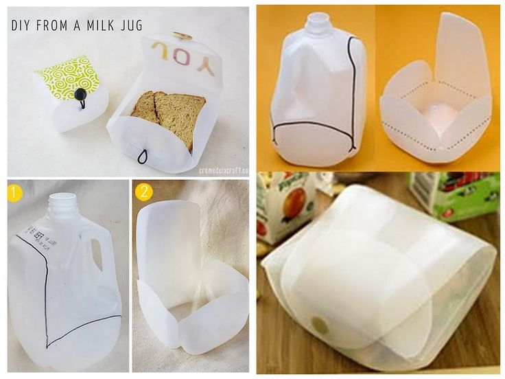 lunchbox from milk jug