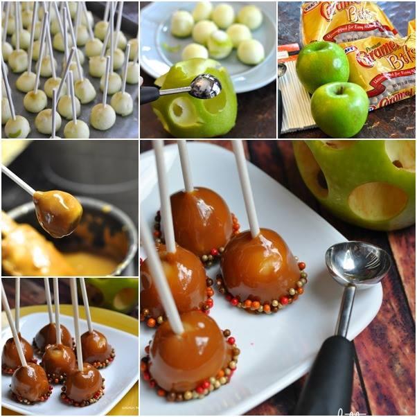How to DIY Mini Caramel Apple Lollipop
