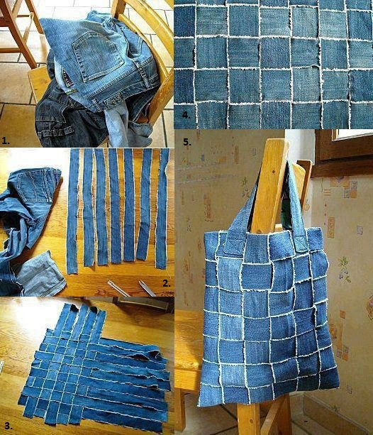 stylish bag from old jean
