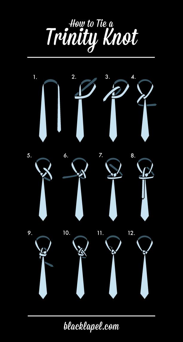 How to Tie a Trinity Tie Knot