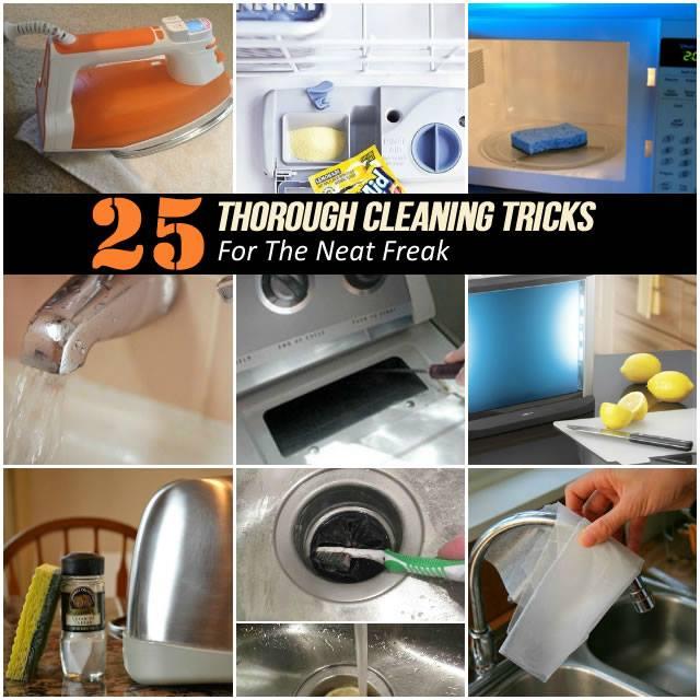 25 Thorough Cleaning Tricks