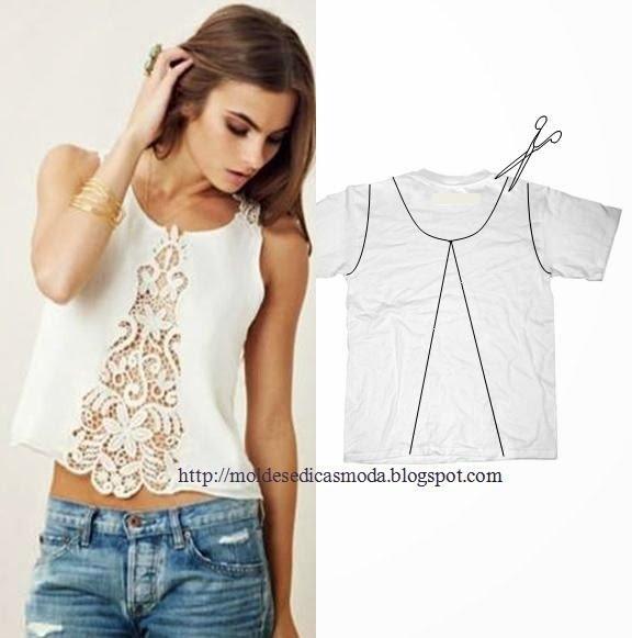 Ideas To Refashion T Shirt Into Chic