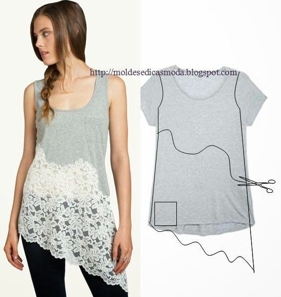 20+ Ways and Ideas to Refashion T-shirt into Chic Top05.jpg