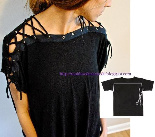 20+ Ways and Ideas to Refashion T-shirt into Chic Top07.jpg
