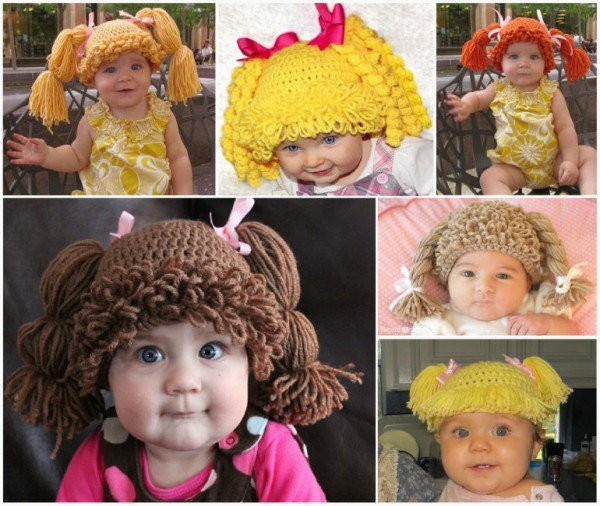 How to DIY Cute Crochet Cabbage Patch Hats with video