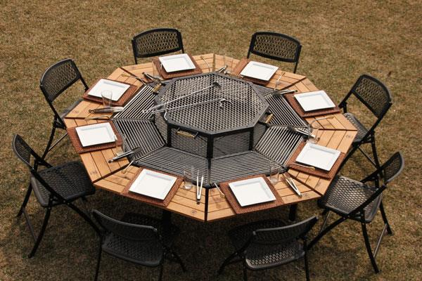 Creative Multi-Purpose Jag Grill Firepit BBQ Table