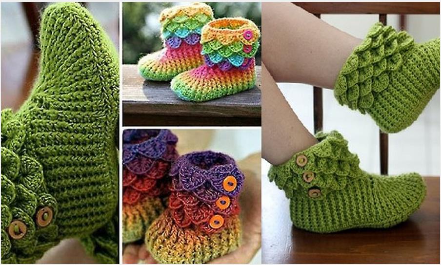 Crochet Crocodile Stitch : crocodile stitch boots