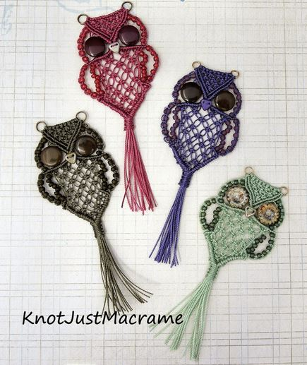 How to DIY Adorable Macrame Owls Patterns and Tutorials (Video)3.jpg