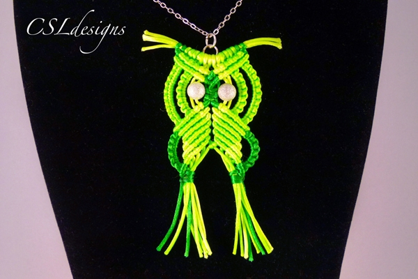 How to DIY Adorable Macrame Owls Patterns and Tutorials (Video)-owl necklace6.jpg