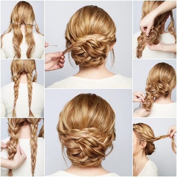 DIY Chic Braided Chignon hairstyle