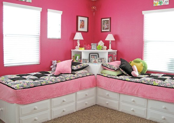 Corner Bed Furniture. DIY-Corner-Twin-Beds5.jpg Corner Bed Furniture ...